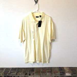NWT IZOD Yellow and White Striped Polo